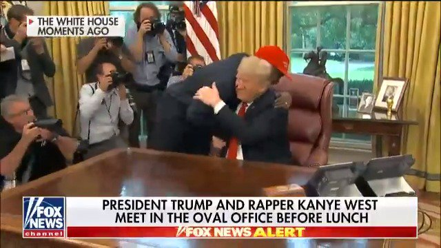 "Kanye West: ""I love this guy right here. Let me give this guy a hug."" https://t.co/fuHyzkW37X"