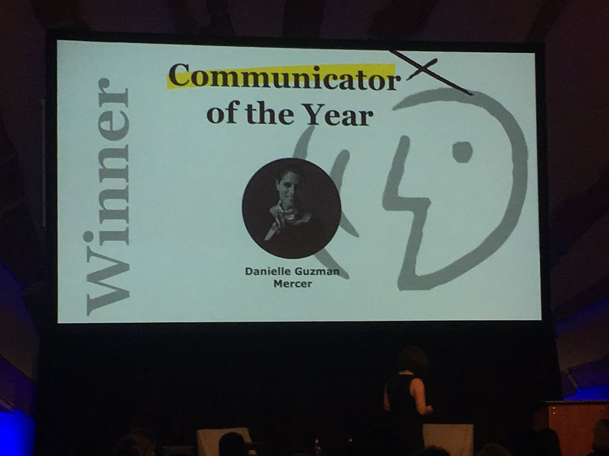 Congratulations to my great customer and friend @guzmand for winning the Communicator of the Year award at #DySisummit #eceawards<br>http://pic.twitter.com/mffBBW7i0S
