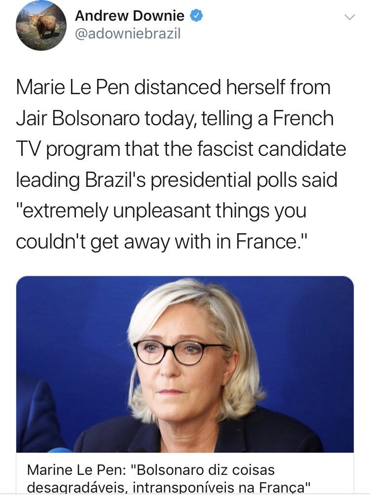 Oh that&#39;s good, the Wall Street Journal just endorsed a candidate who even the Natoinal Front&#39;s ethno-nationalist MARINE LE PEN thinks is too much of an openly racist, misogynist, homophobic fascist <br>http://pic.twitter.com/Tn1E9FeJAA