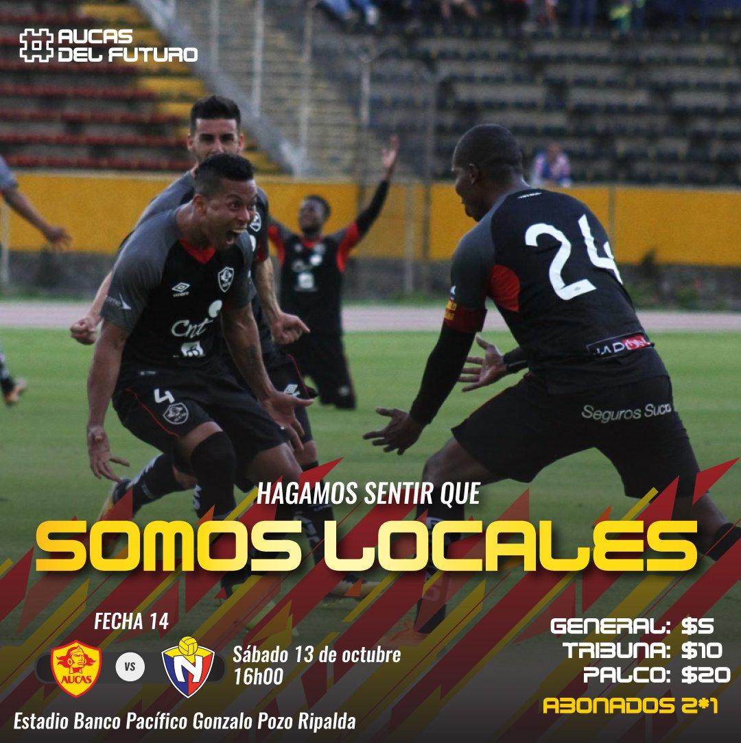 Precios de las entradas para asistir al partido del Aucas contra El Nacional