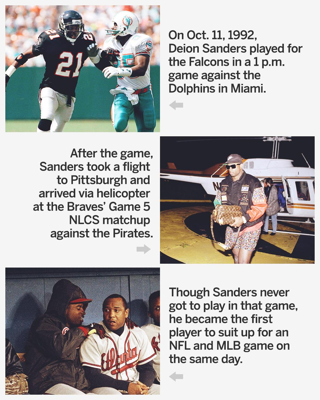 On This Date: Deion Sanders repped Atlanta ... twice. https://t.co/SjMeuoY7Lm