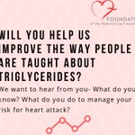 Image for the Tweet beginning: Help the #FoundationoftheNLA improve #triglyceride