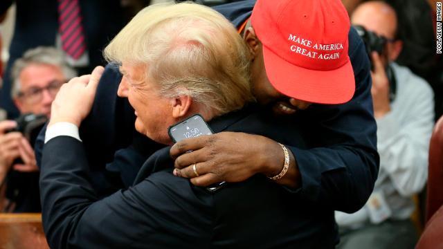 Kanye West tells President Trump the MAGA hat made him feel like  Superman   https ff653a759
