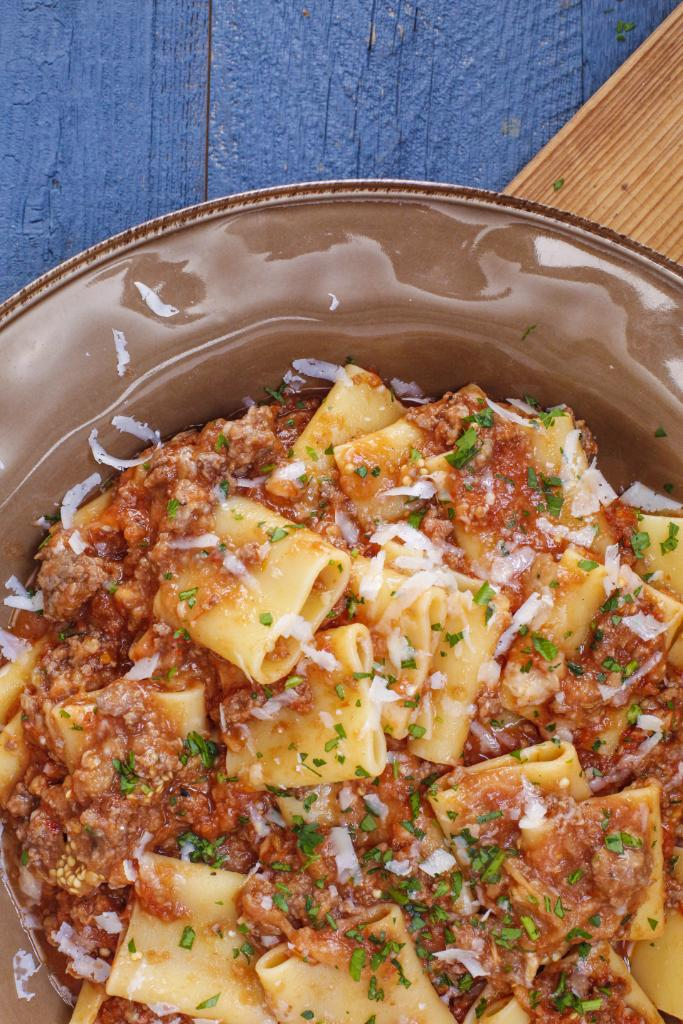 Rach pairs giant pasta with a charred eggplant-based spiced meat sauce  GET THE RECIPE > https://t.co/us1Nit2Z3l https://t.co/VkEXawMhP1