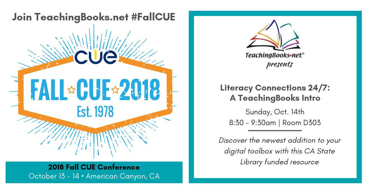 test Twitter Media - https://t.co/uKTbNNhmBy is at #FallCUE! Join our Sunday session at https://t.co/PU03wXVnMA  Learn about CA's newest digital resource to enrich the books read in your schools! Licensed by @CAStateLibrary statewide so all have equitable access. https://t.co/F5CHDs8nlV