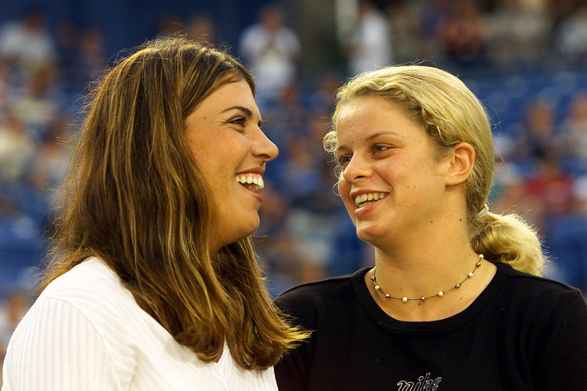 Time for a little @WTA #TBT from the @connecticutopen vault... 😃 @JenCapriati @Clijsterskim 😃 📸: 2001 #CTOpen