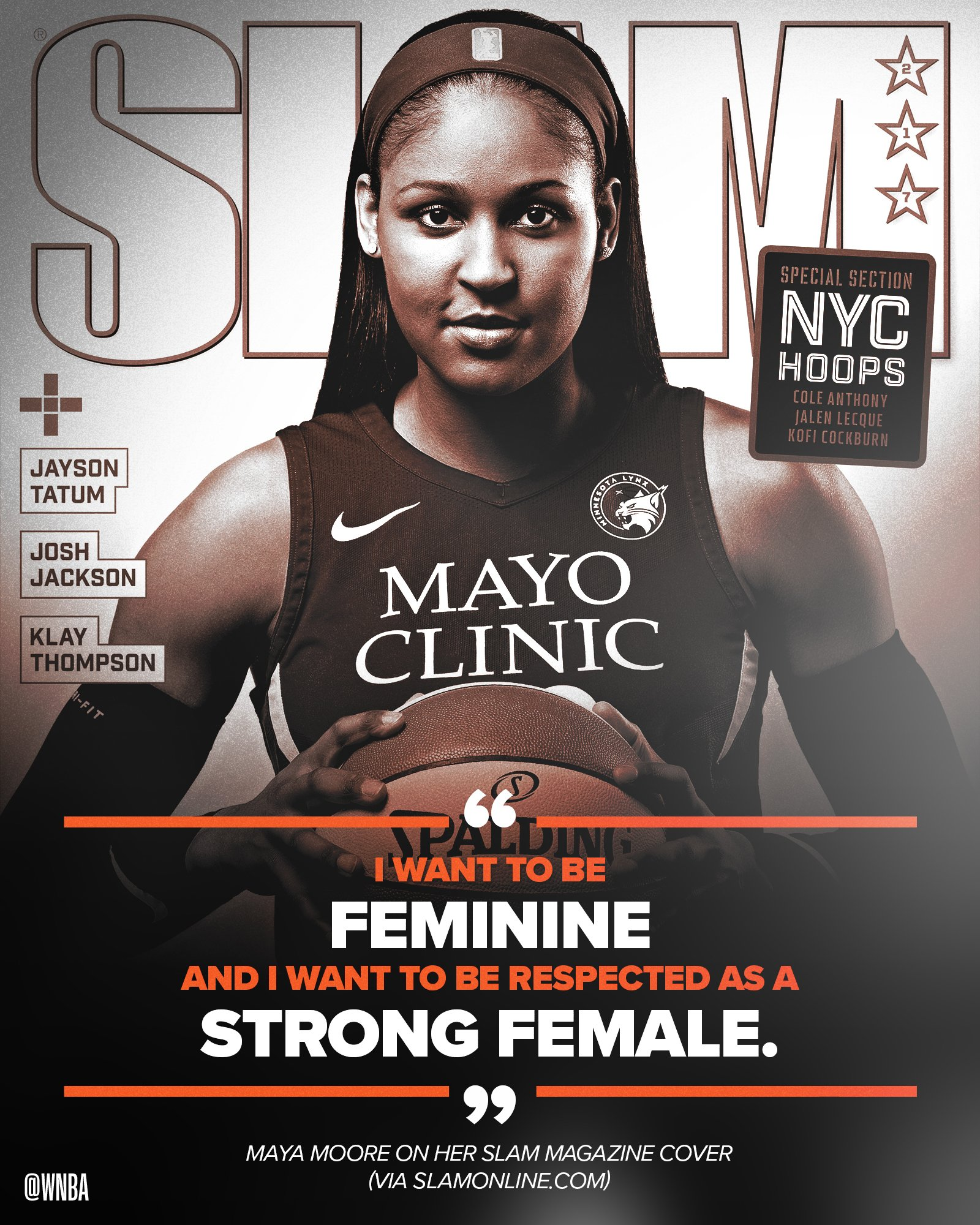 In honor of #DayOfTheGirl, take a look back at @MooreMaya's @SLAMonline cover feature! �� https://t.co/kOB6NdLzTE