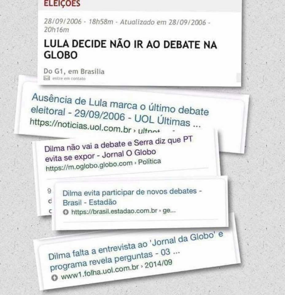 Bolsonaro 1️⃣7️⃣ está se recuperando de um atentado, de um esquerdista que até agora não foi apurado realmente os culpados. E com isso impossibilitado de debater cara a cara com o Bandido do FALSIDaad!  Já Lula que é igual Haddad, BANDIDO, não foi nos debater por se COVARDE!