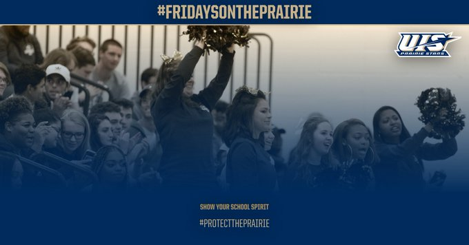 RT @UISAthletics: .@UISedu Make sure to wear your Prairie Star gear tomorrow for #FridaysOnThePrairie Get spotted and YOU could win free ge…