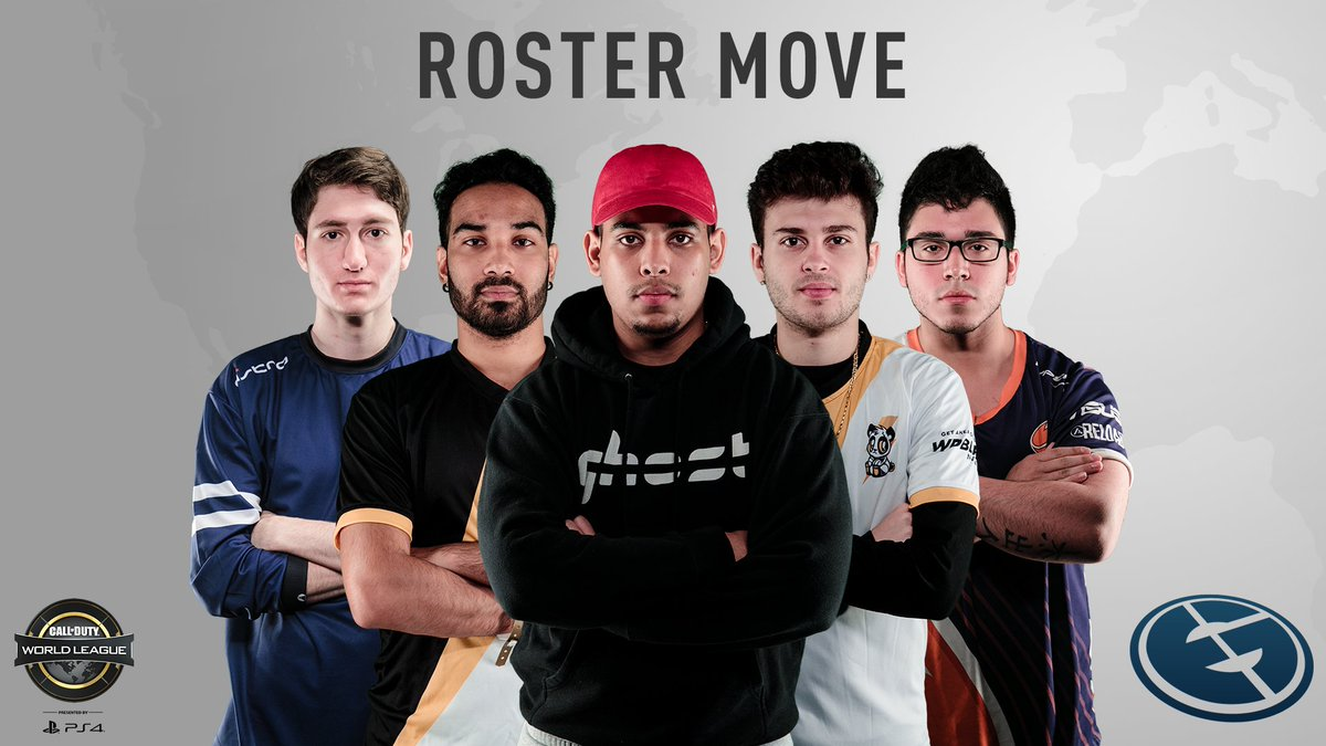 ROSTER MOVE: Introducing the new @EvilGeniuses #CWLPS4 squad!  @FeLo @Goonjar @Lacefield @SaugaRoyalty @SaintsNato