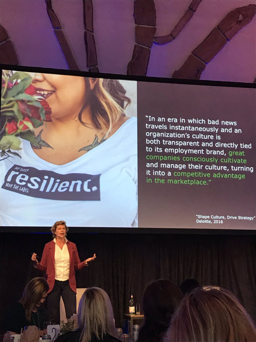 """Can't repeat this loud enough... """"Successful companies manage their culture... and manage them to be resilient..."""" Thank you @KimClark1 for this gem #DySiSummit @Dynamic_Signal<br>http://pic.twitter.com/hjEIPSzbFZ"""