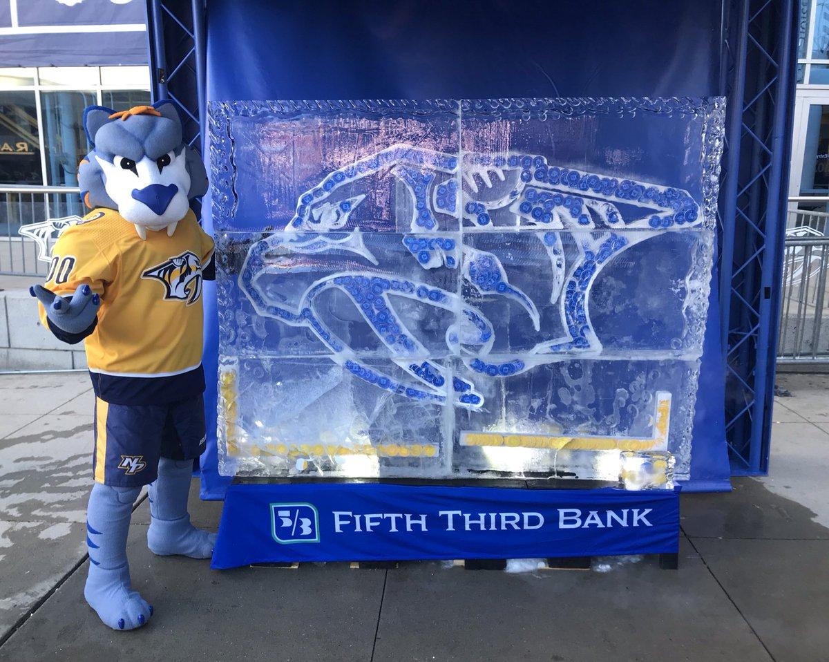 Nashville Predators On Twitter It S A Preds Ice Sculpture