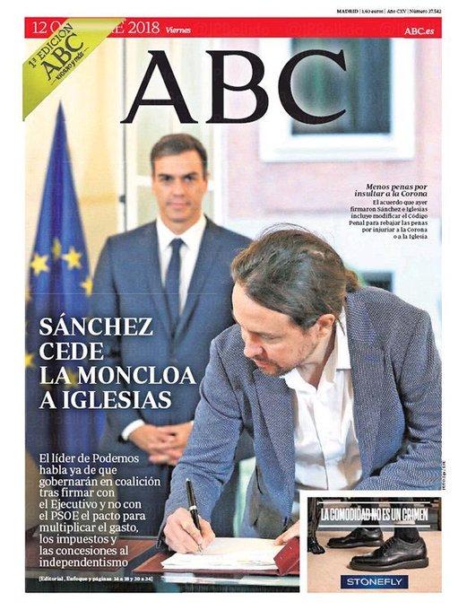 Estoy por comprarme el @abc_es mañana sólo por la portada 💜 #SiSePuede Photo