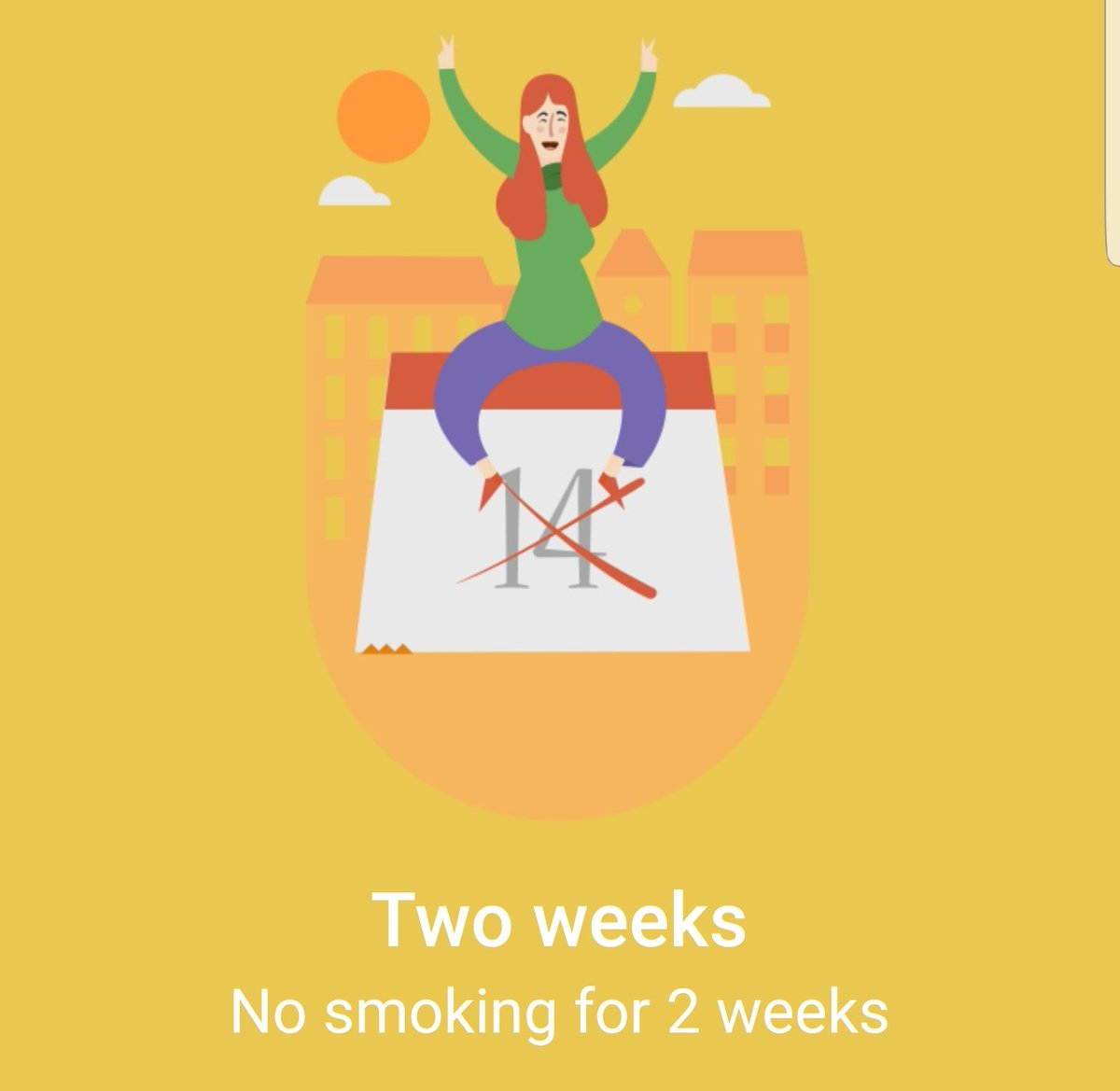 """Kate Flood on Twitter: """"I have now quit smoking, cold turkey, for two weeks.  Good for me… """""""