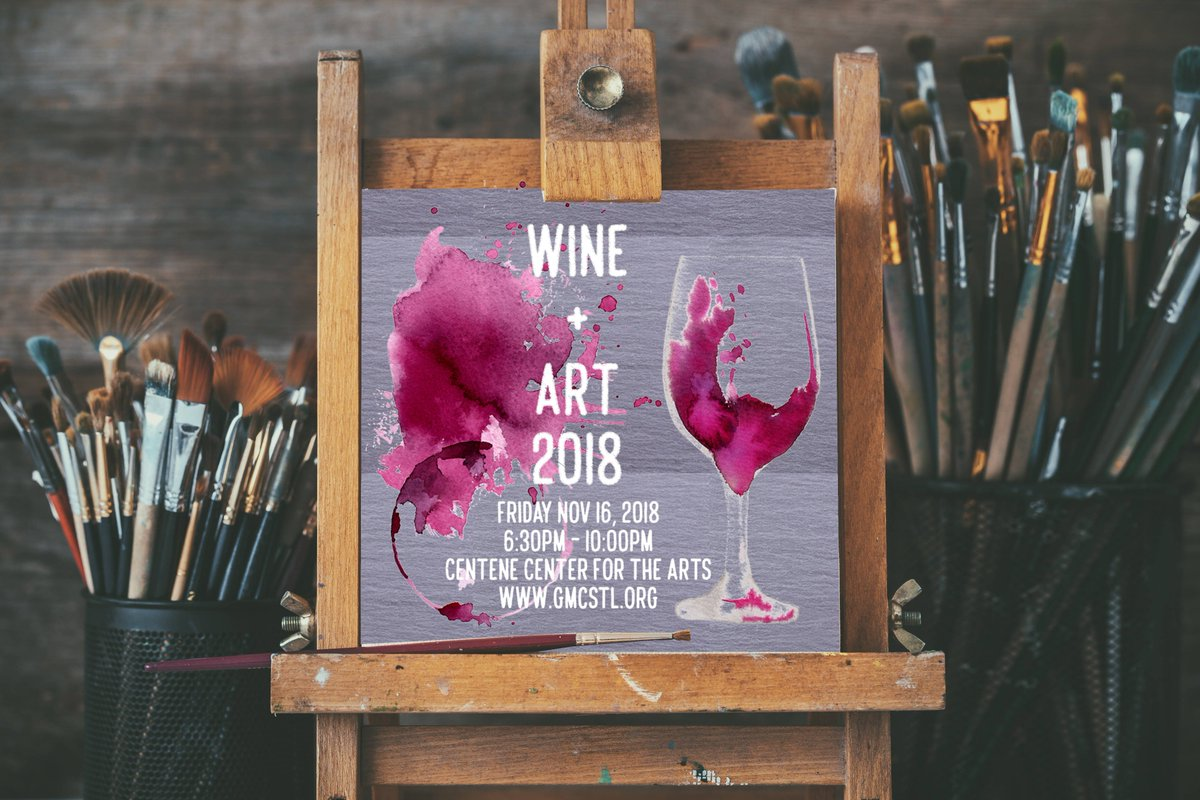 Wine + Art 2018 is coming up soon! RSVP now at https://t.co/6vzl1IUF8s and reserve your seat for an auction filled with a selection of oils, serigraphs, etchings, watercolors, giclees and lithographs in a variety of price points affordable for all.  #GMCWineArt #gmcstl https://t.co/2YZPMSPZyg