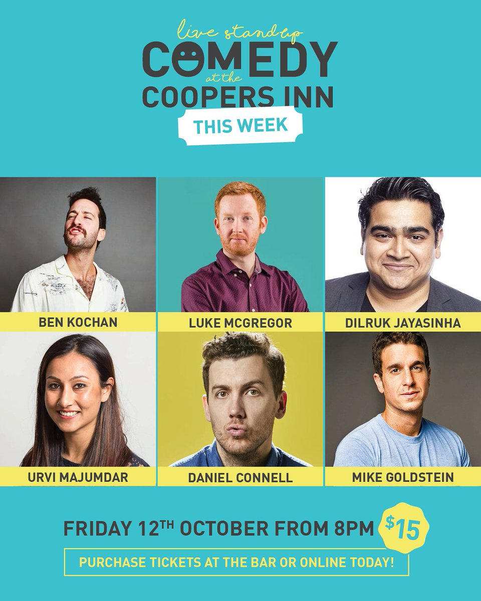 Tonight! @Dilrukj @LukeWMcGregor + more! Huge show, prebook tickets asap, they're selling fast  http://www.trybooking.com/WDYM