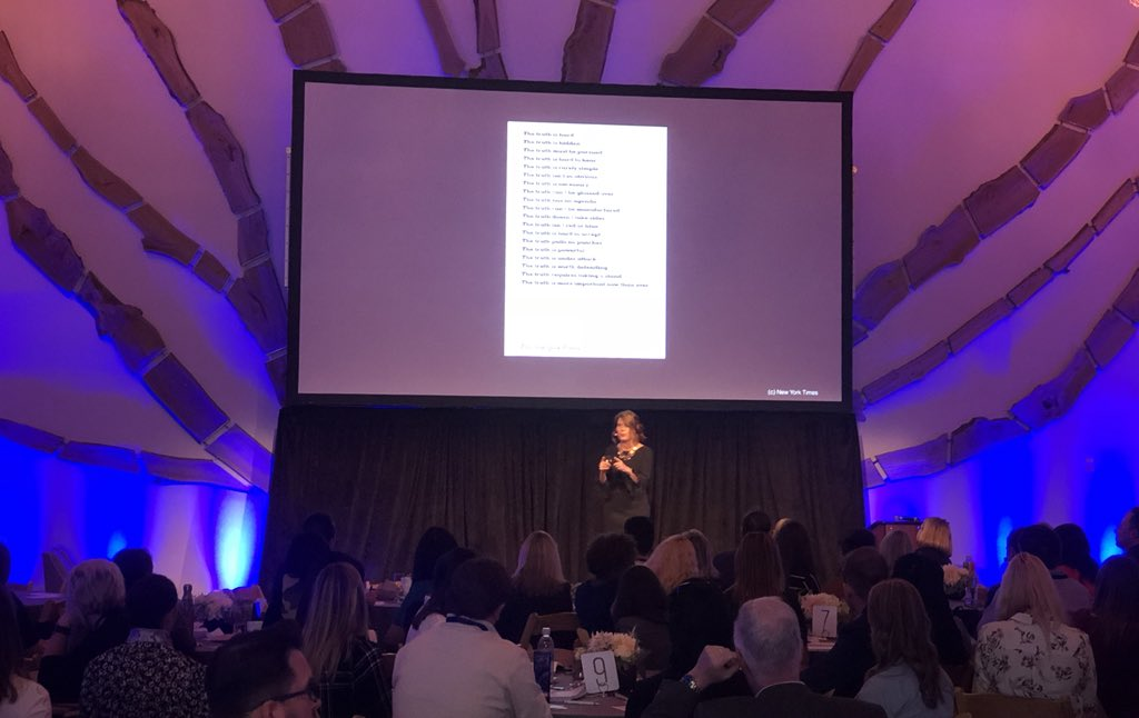 Such an inspiring and thoughtful keynote by @wexlert about communications, brand trust and the truth! Thank you Trish. #dysisummit <br>http://pic.twitter.com/lmJ9JBXhJ0