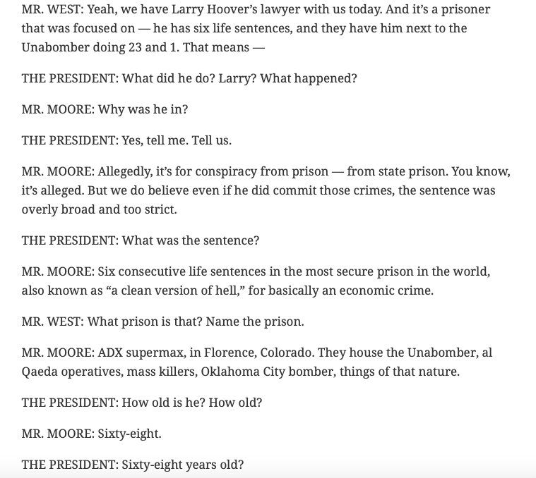 """What a shock that the guy who claimed that he could solve Chicago's crime problem """"within a week"""" has zero clue of who Larry Hoover is. <br>http://pic.twitter.com/AWhSEJvwJX"""