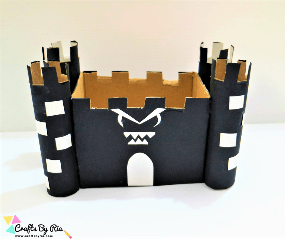 Diy Haunted Castle Craft For Halloween Easy Recycled Craft Idea