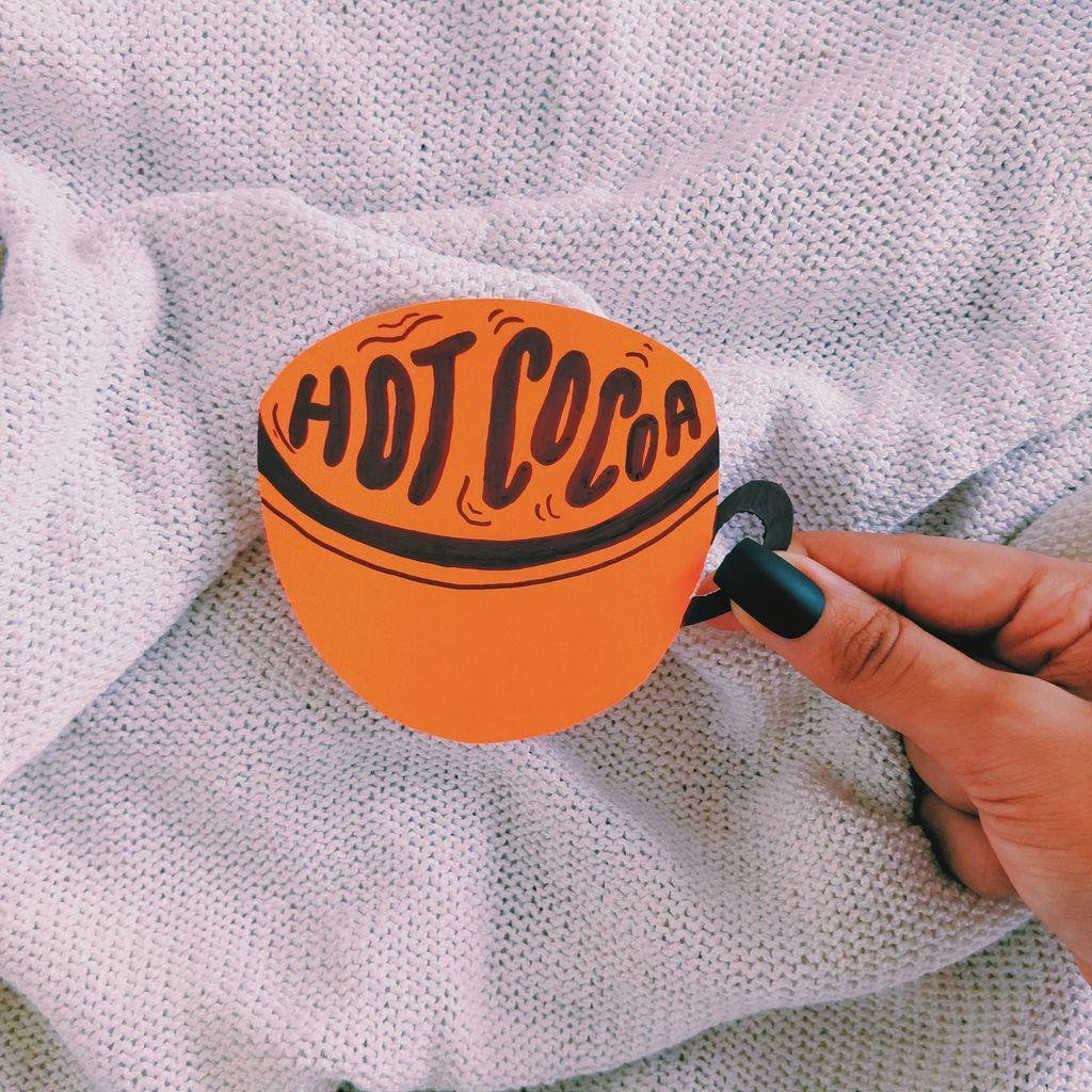 Hot chocolate is always welcomed in my life, albeit in moderation. :)  . . . . . .⠀ #1415 #pranitasdrawingaday #type #goodtypetuesday #illustrationartist #lettering #handlettering #handmadetype #postcards #thegridlife #dailytype #typescript #typespire #ProcreateInktober