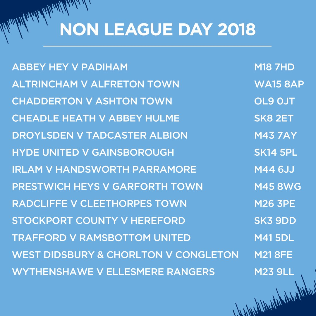 Our pick of tomorrow's local #NonLeagueDay2018 fixtures! ⚽️ Get down and support your local team!