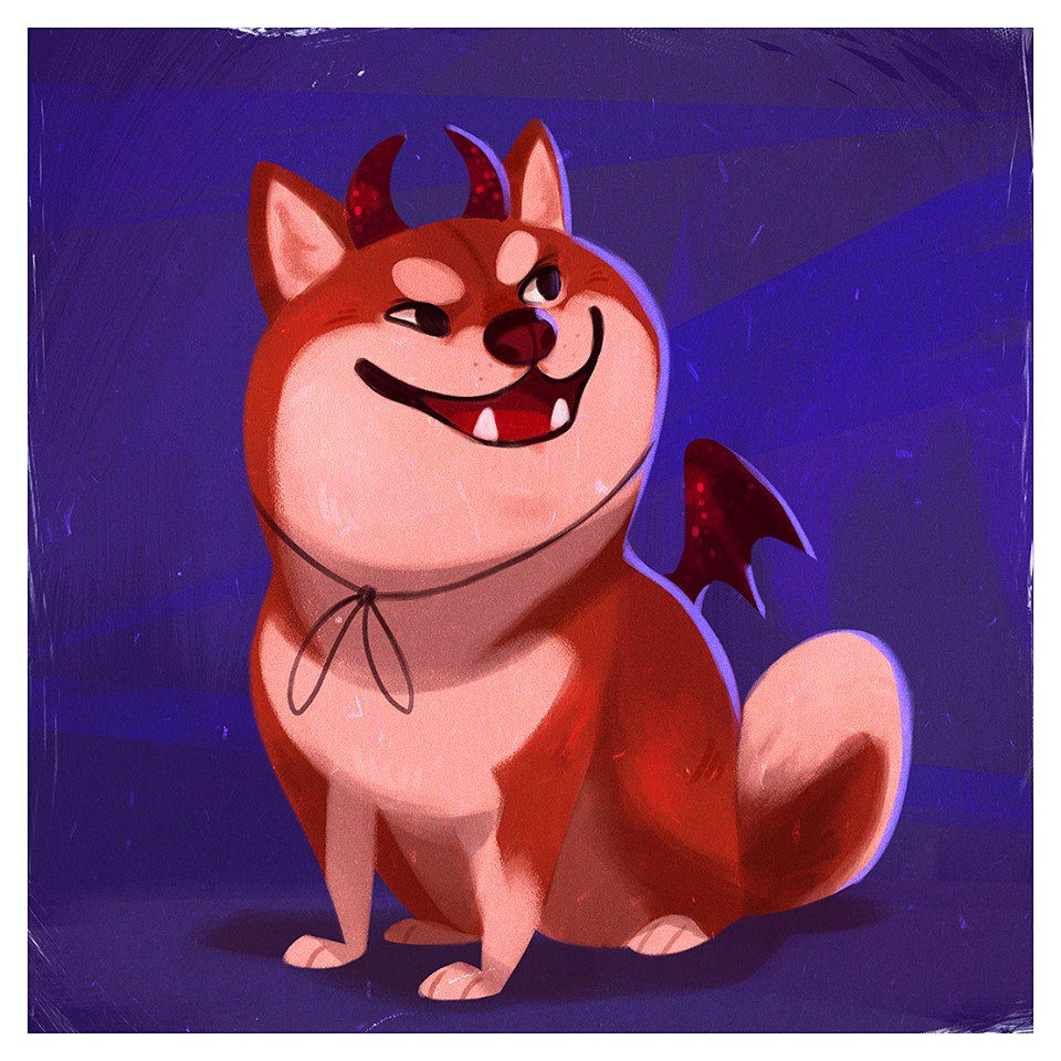 IT&#39;S A.. DEVIL SHIBA INU! #Doggoween Something wicked this way borks..  Congratulations to all of those (and there were many) who guessed it right!   Thank you for playing! Another Doggo to guess tomorrow!<br>http://pic.twitter.com/NP7ESGOGj1
