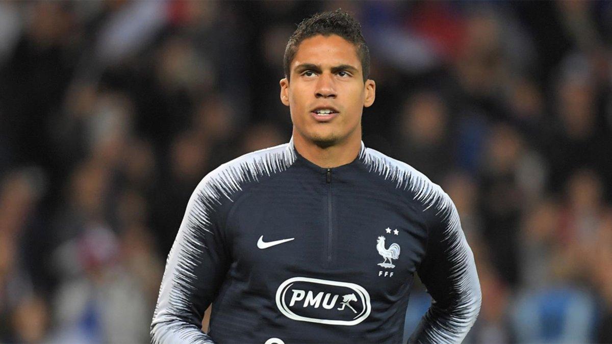 Varane, en el entrenamiento con Francia.