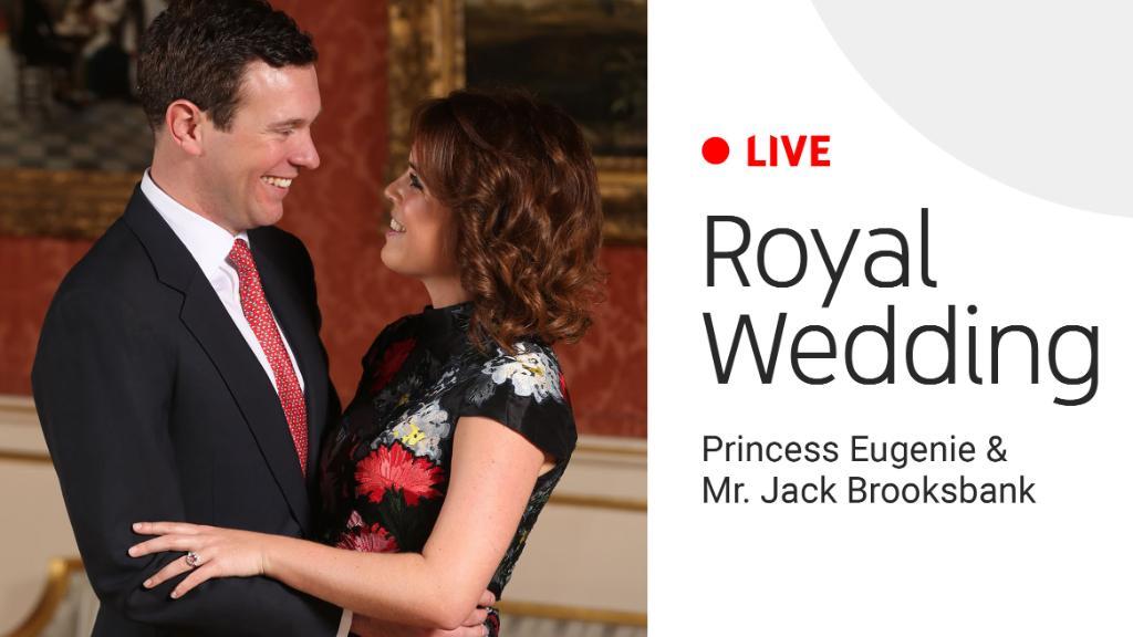 🔴LIVE: Watch as Princess Eugenie of York marries Mr. Jack Brooksbank. youtu.be/RoNyELmURN8