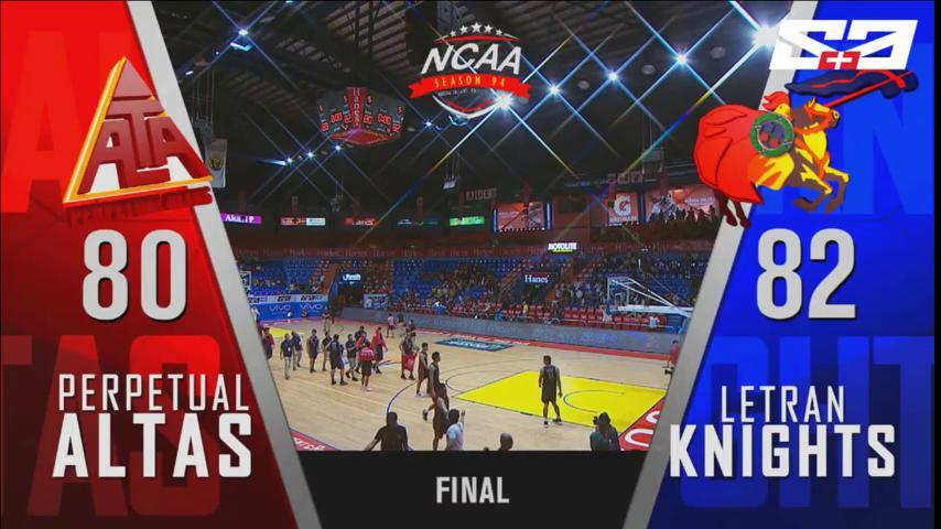 FINAL: Letran exacts revenge on UPHSD after a close 82-80 victory! #NCAASeason94 <br>http://pic.twitter.com/G2ZOsZGBQ8