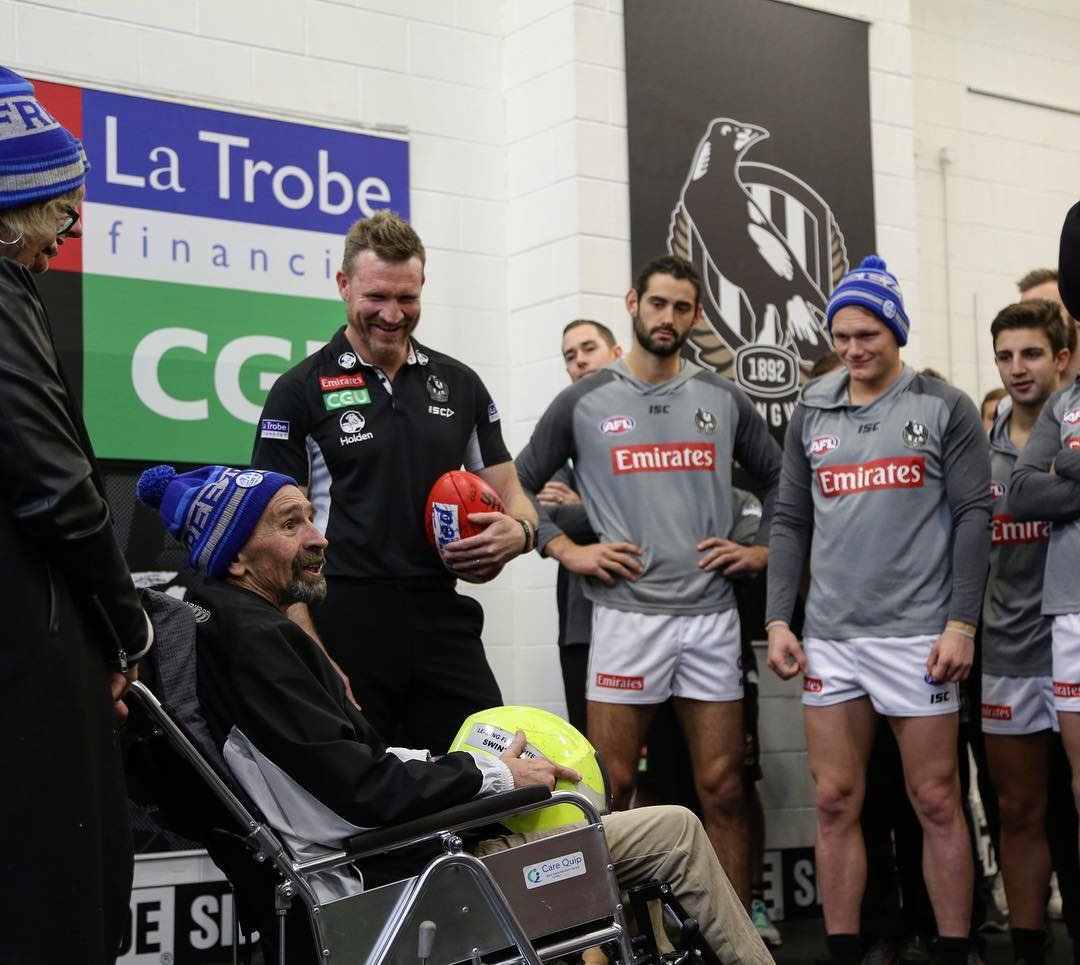 With deep sadness, we acknowledge the passing of Murray Swinton, an inspirational man + friend to many at the club - https://magpi.es/2pQCWau  Our thoughts are with his wife Tracie, sons Mitch + Nick + all he gave comfort to as he fought motor neurone disease #sidebyside