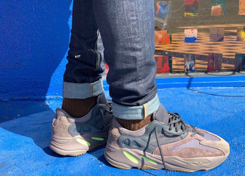 "02d8aa83b78 On-feet photos of the ""Mauve"" adidas Yeezy Boost 700 https    sneakerbardetroit.com adidas-yeezy-boost-700-mauve-ee9614-release-date   …pic.twitter.com  ..."