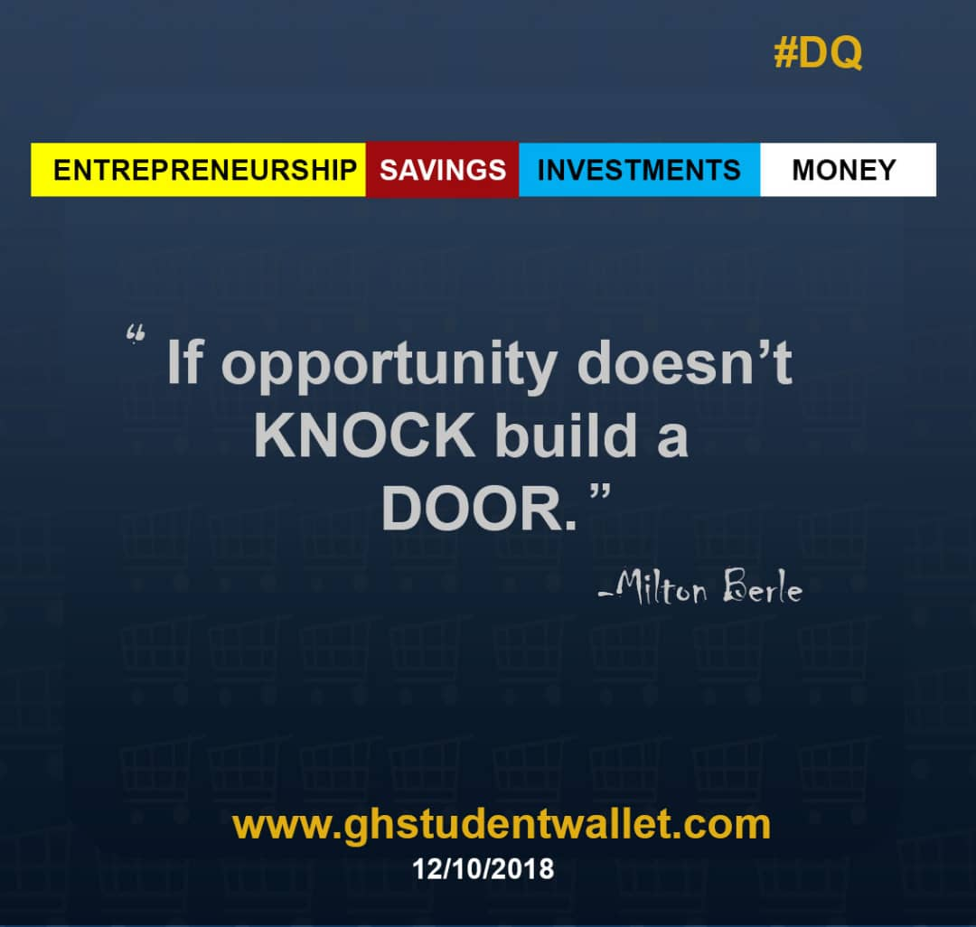 """""""If opportunity doesn't knock, build a door""""...#build #moneywisdom #entrepreneurs #opportunity #successfulminds <br>http://pic.twitter.com/66BAceLd5P"""