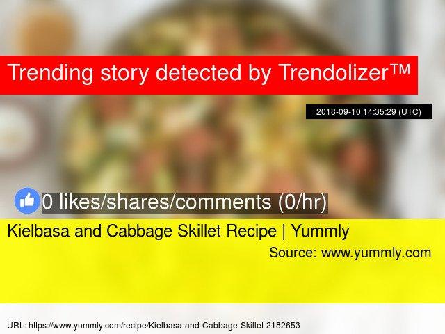 Kielbasa and Cabbage Skillet Recipe | Yummly https://t.co/GgORwZmOGX https://t.co/SerYhpUtJs