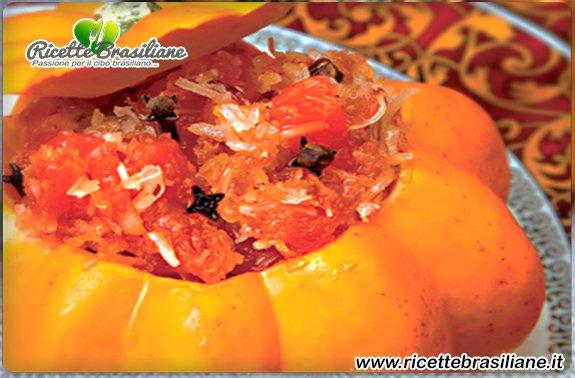 Dolce di Zucca con Cocco #dolcedizucca #dolci #dolcibrasiliani #halloween #ricettebrasiliane #zucca http://www.ricettebrasiliane.it/Ricette/dolce-di-zucca-con-cocco/…