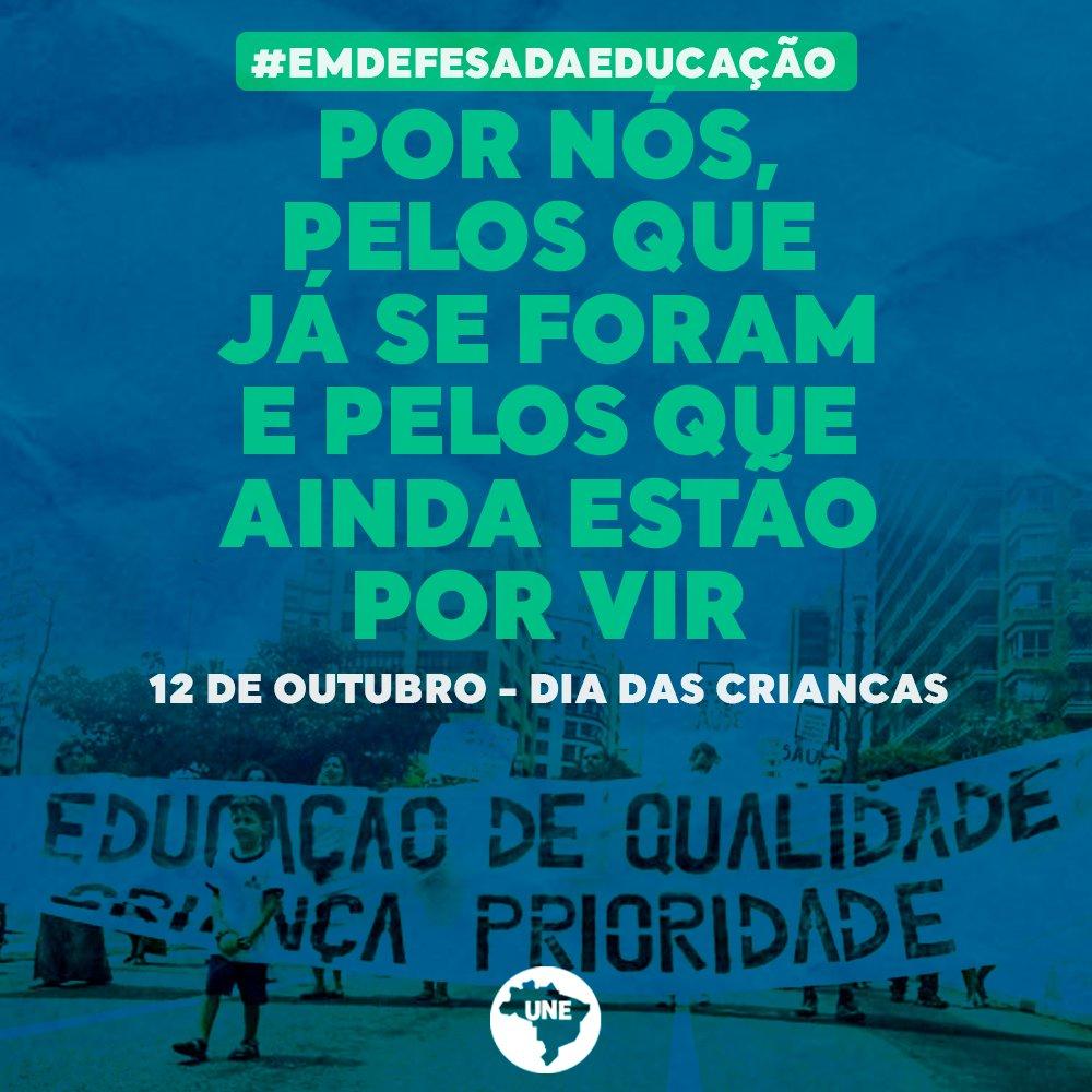 A nossa luta em defesa da educação ultrapassa os muros das universidades e dos ambientes acadêmicos, lutamos também pela educação básica e infantil por entendermos a importância de uma educação libertadora desde a mais tenra idade. Vamos juntos! #DiaDasCrianças