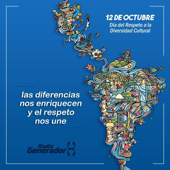 📢 #12deOctubre #DiversidadCultural Respeto e igualdad. Todos somos habitantes de la misma tierra. Nutrámonos de nuestras historias y culturas para ser un gran pueblo sin fronteras 🌎🙌 Foto