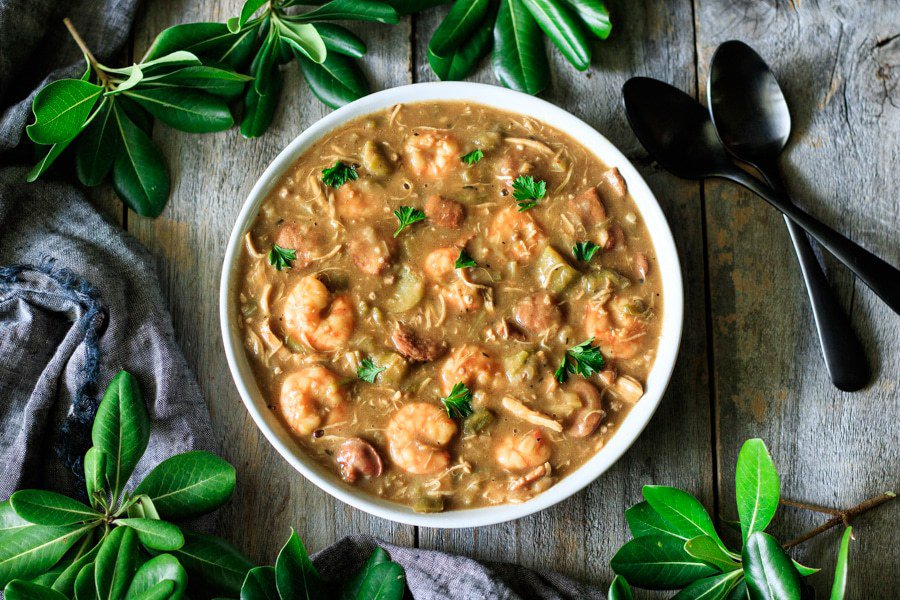 Shrimp Sausage Chicken Gumbo Recipe That Awesome Served Over