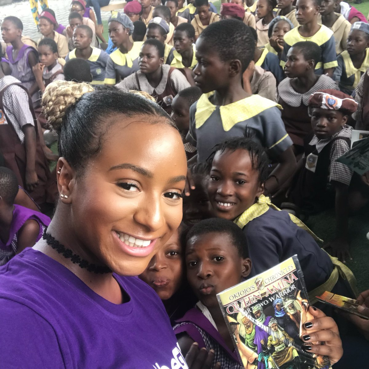 Proud to be part of the #DayOfTheGirl Campaign by the UN 💜👧🏾🕊 Education is everything! #CuppyCares