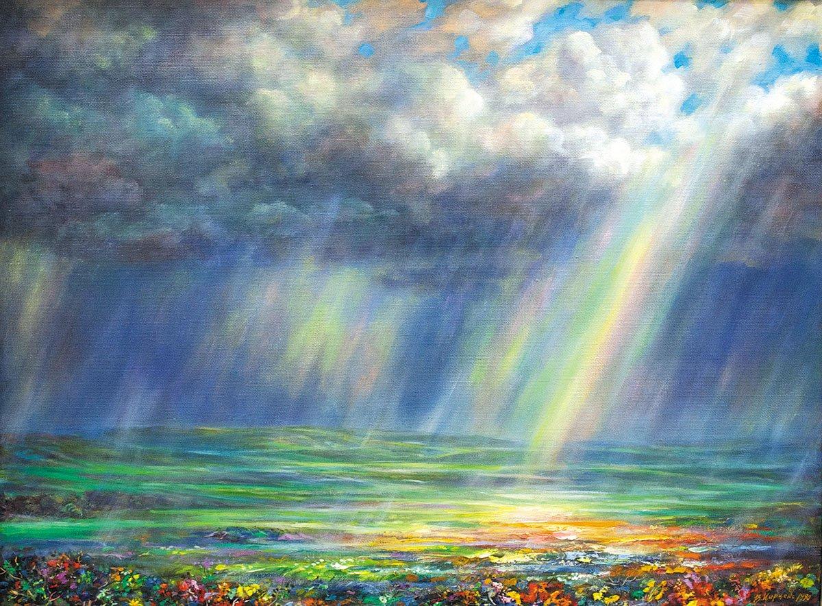 Хороший вечер, открытки радуга и дождь