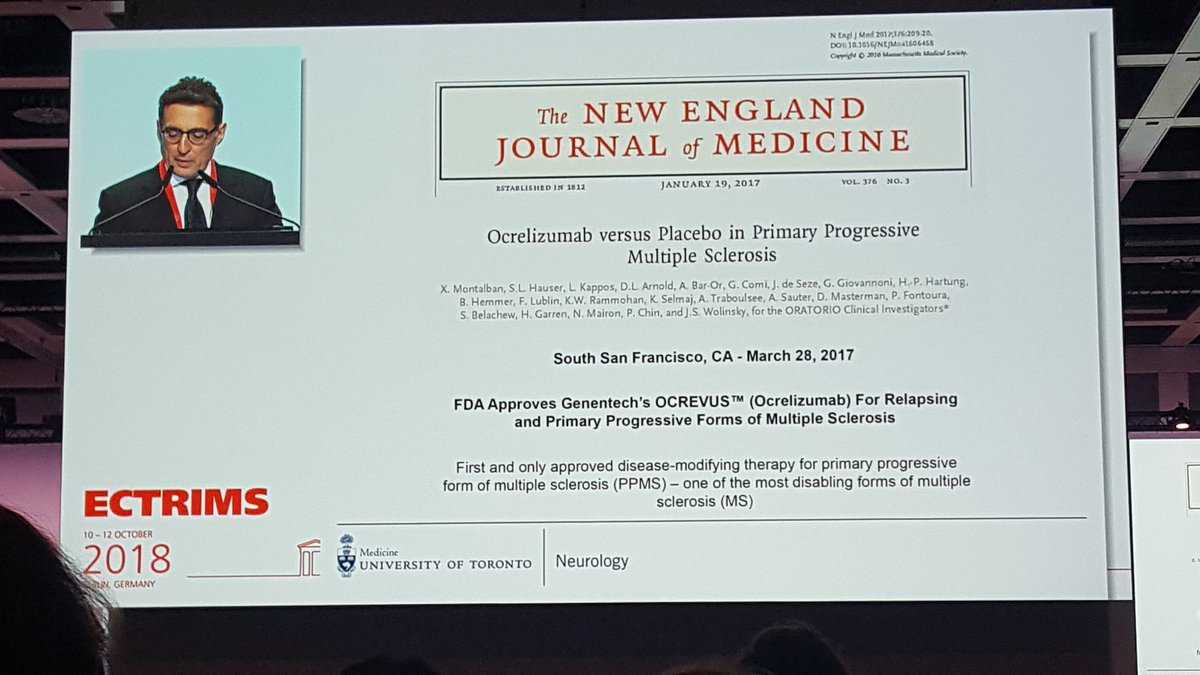 @XMontalban @StMichaelHospit @cemcat_em: excelent review of Progresive MS and clinical trials for its treatment. Which subgroup of PwPMS should be treated? Some clues have been shown but further research needs to be done #ECTRIMS2018 <br>http://pic.twitter.com/I6KGmN1BO7