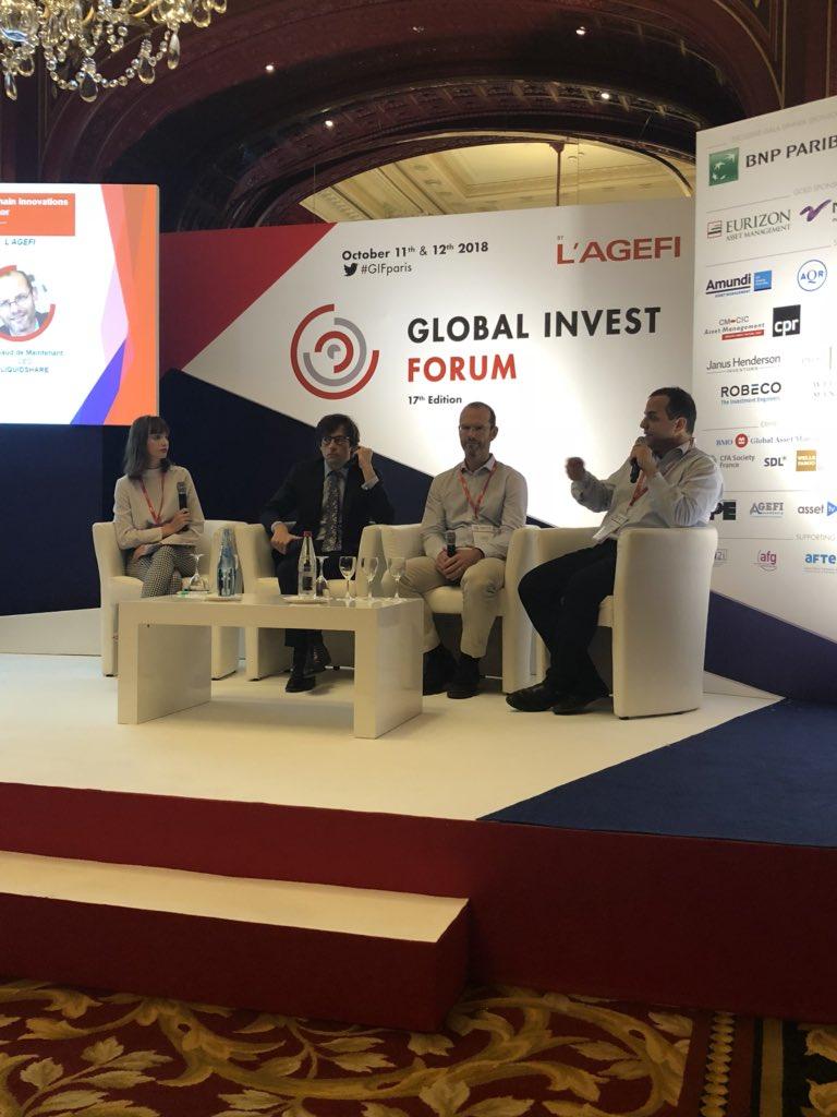 #GIFParis La #Blockchain facilite la distribution internationale des fonds/liquidité des marchés financiers. #finance @AgefiFrance  - FestivalFocus