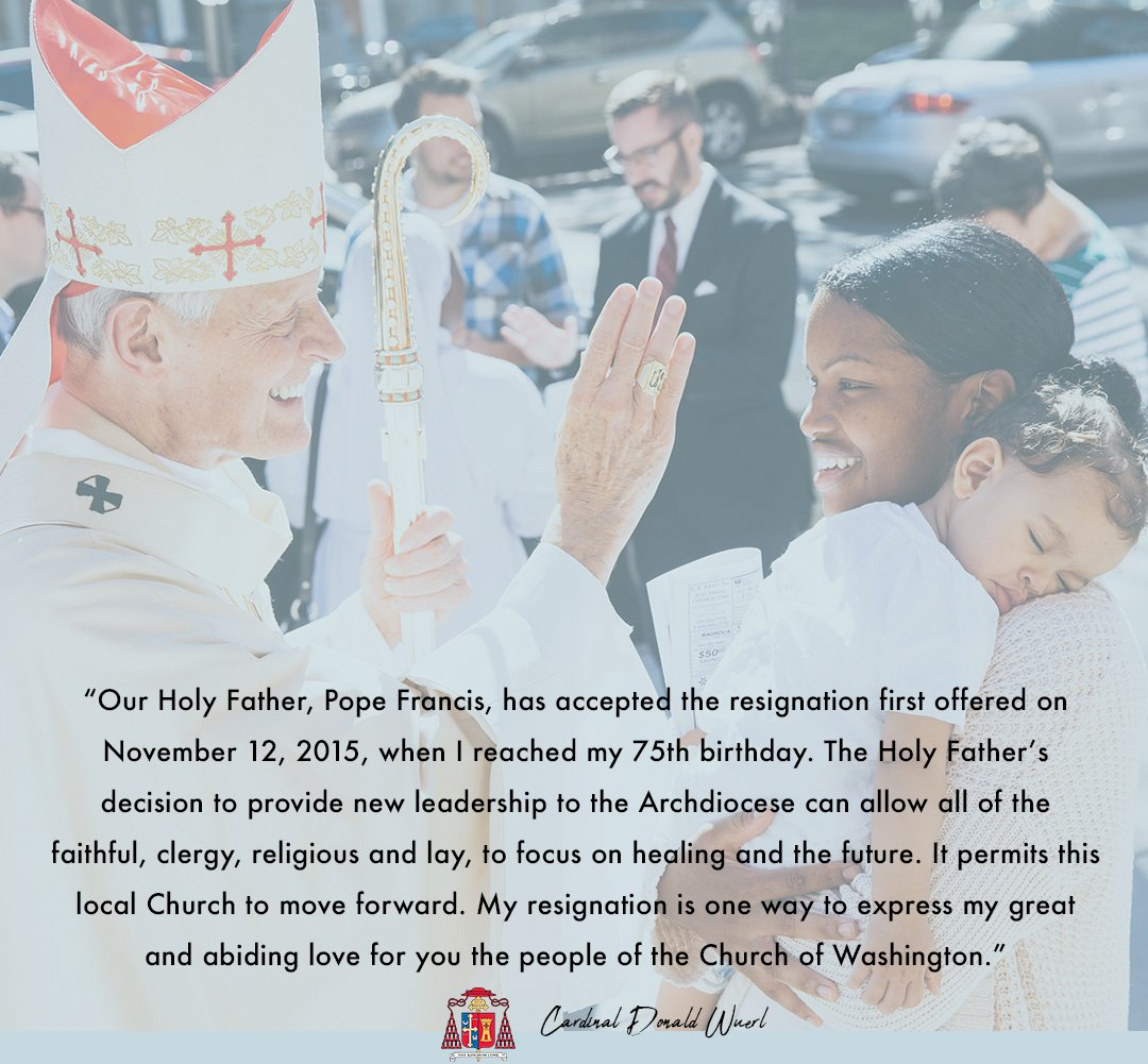 Dc Archdiocese On Twitter Breaking Pope Francis Has Accepted