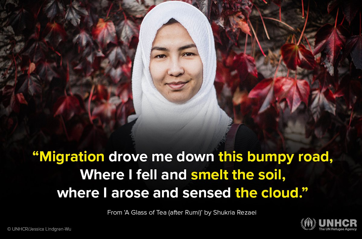 Meet Shukria. A young refugee with an incredible talent for poetry. https://t.co/VfJvXRssEv