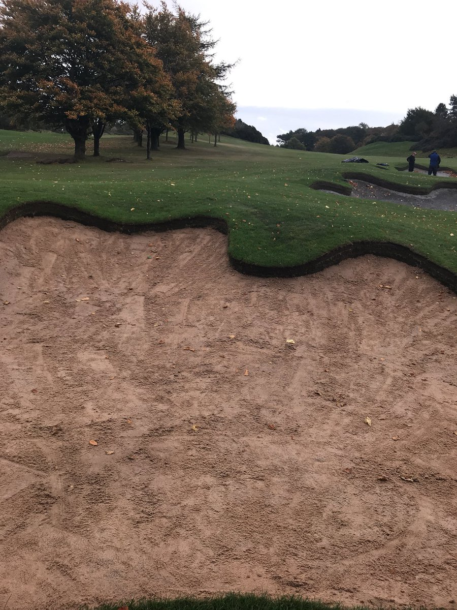 test Twitter Media - First layer of sand going into bunkers at second , please don't be tempted to play out of them or you will hit our new capillary concrete. https://t.co/2gg8XqZhip
