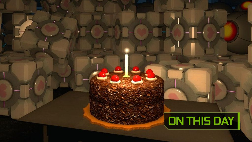 Magnificent Nvidia Geforce Uk On Twitter Happy 11Th Birthday Portal Will Personalised Birthday Cards Veneteletsinfo