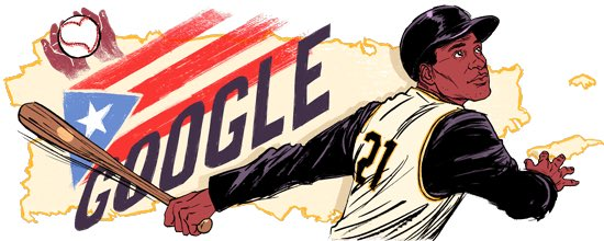 ¡Orgullo Boricua! Google Doodle honors Puerto Rico's Roberto Clemente https://t.co/3By4byDOBv https://t.co/mFSShQiJ1N