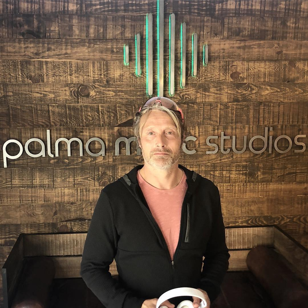 Mads doing voice-over work in Palma Music Studios in Mallorca. <br>http://pic.twitter.com/JkOS9DhX9H