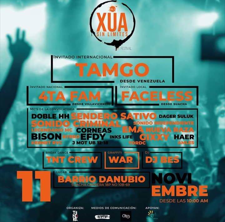 BISON on Twitter: Un gran evenro en suacha este 11 de noviembre  encantadoa se estar tocando en esta parte de cundinamarca #xuasinlimite #soacha #rap #hiphop #envivo #foto #arte #tdt…