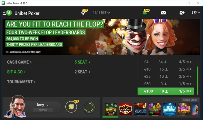 Live with some Friyay SNG action and a freeroll for you lovely folk! #poker #Unibet Photo