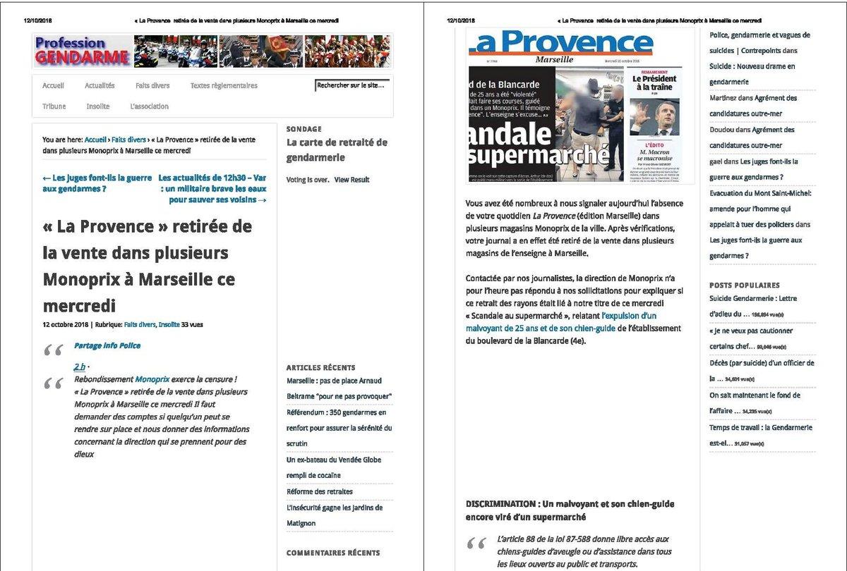 @Monoprix @s_cluzel @laprovence @EmmanuelMacron @TeamMacronPR @La_RepubliqueEM @EPhilippePM @gouvernementFR  https:// www.liberation.fr/checknews/2018/10/09/le-monoprix-de-la-blancarde-a-marseille-avait-il-le-droit-de-refuser-l-acces-a-un-chien-d-aveugle_1684134 … … … Madame la Ministre : Monoprix censure une honte allez vous réagir enfin! vs entendre sur les ondes Citoyens réagissez  et boycottez  - FestivalFocus